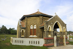 Christian Chapel and Cemetary, Galle, Sri Lanka stock photos
