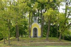 Christian Chapel histórico típico, República Checa, Europa Imagen de archivo