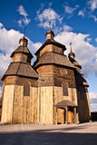 Christian chirch. Christian wooden chirch in the willage, was taken in Zaporozie Royalty Free Stock Images