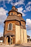 Christian chirch. Christian wooden chirch in the willage, was taken in Zaporozie Royalty Free Stock Photos