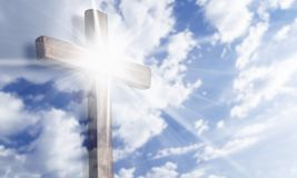 Christian. Ity cross heaven background easter christ Stock Image