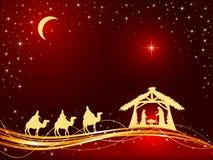 Christian Christmas Background avec la naissance de Jésus et de l'étoile illustration libre de droits