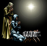 Christian Christmas Nativity Scene Royalty Free Stock Photography