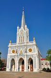 Christian Chruch in Samutsongkram of Thailand Stock Photos