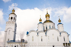 Christian church in Сhebarkul, Russia Stock Photo