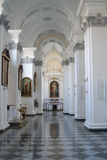 Christian church. Corridor inside ukrainian christian church Royalty Free Stock Images