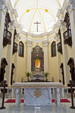 Christian  church. The interior of a christian church Royalty Free Stock Photos