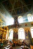 Christian church. Penetrate solar beams Royalty Free Stock Images