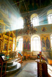 Christian church. Penetrate solar beams royalty free stock image