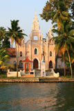 Christian church. A Christian church on the backwater´s margin Stock Images