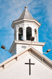 Christian Church Bell Tower. Blue cloudy sky Royalty Free Stock Images