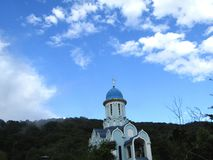 Christian Church on blue sky background royalty free stock image