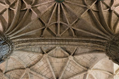 Christian church ceiling arc Royalty Free Stock Image