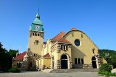 Christian Church dans la ville de Qingdao, Chine Photos stock