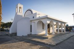 Christian church. Daylight Shot of the White Christian Church Stock Images