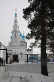 Christian Church in der Stadt Biysk, Russland lizenzfreie stockbilder