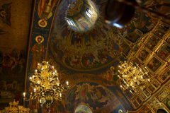 Christian church dome interior Stock Photo
