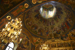 Christian church dome interior Stock Images
