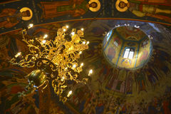 Christian church dome interior Royalty Free Stock Images