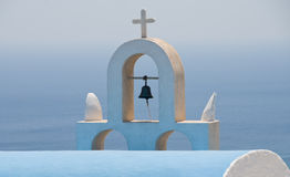 Christian church dome, Santorini Stock Photography