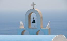 Christian church dome, Santorini Stock Photography