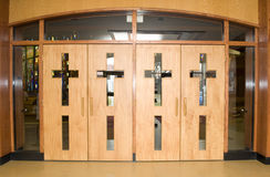 Christian Church Doors Stock Photos