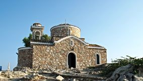 Christian church on the hill front view. Cyprus Royalty Free Stock Photo