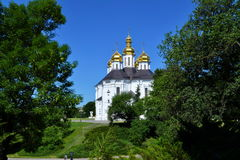 The Christian church. Christian Church in the hot summer day Stock Photo