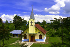 Christian Church Huta Hotang. Indonesia. Royalty Free Stock Photo