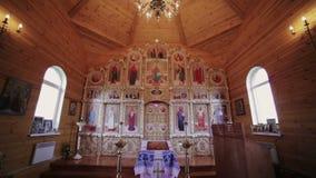 Christian Church-Innenraum stock video
