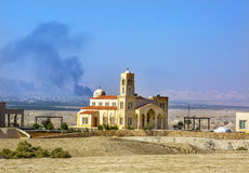 Christian Church Jesus Baptism Site novo Bethany Beyond Jordan fotografia de stock