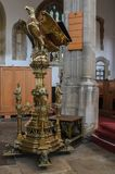 St Dunstans Church Lectern. In the Christian Church, the lectern is usually the stand on which the Bible rests and from which the `lessons` reading from royalty free stock photography