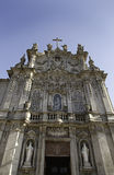 Christian Church in Lisbon. Detail of the front facade, historic building Royalty Free Stock Images