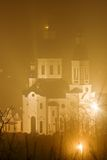 Christian church in a mist Royalty Free Stock Photography