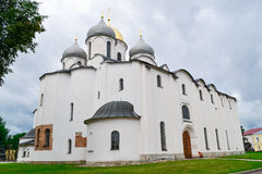 The Christian Church in Novgorod. The Christian Church in Veliky Novgorod. St. Sophia Cathedral is the landmark of Great Novgorod, the Christian temple, the Royalty Free Stock Photography