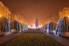 Christian Church på jultid - 01 Fotografering för Bildbyråer