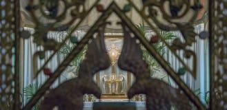 Church eucaristia adoration royalty free stock photos
