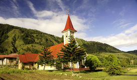 Christian church in Sumatra near Toba Lake Royalty Free Stock Photo