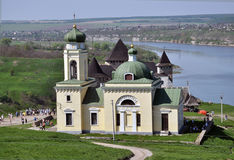 Christian church in the territory Khotyn Fortress Royalty Free Stock Images