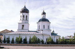 Christian church in Tomsk, Russia. White church Royalty Free Stock Images