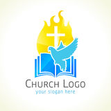 Christian church vector logo. Royalty Free Stock Photo