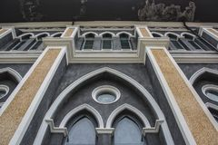 Christian church walls, Cathedral of the Immaculate Conception, Stock Images