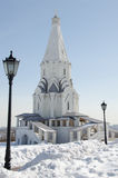 Christian church. Was built five years ago, the monument of early spring Stock Photo