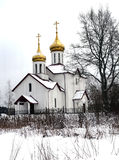 Christian Church in Winter Day Royalty Free Stock Photography