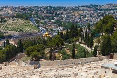 Christian churches on the Mount of Olives Stock Images