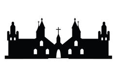 Churches silhouette Royalty Free Stock Image