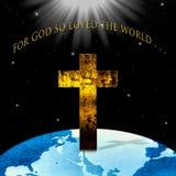 Christian Concept religioso: Para do deus o amor assim o mundo ilustração royalty free