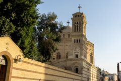 Christian Coptic Church in Cairo, Egypt - Middle East. Beautiful Christian Coptic Church in Cairo Egypt where Christians in the Middle East worship Stock Photo