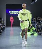 Christian Cowan FW 2019. New York, NY, USA - February 12, 2019: Kalen Allen walks runway for Christian Cowan Fall/Winter 2019 collection during New York Fashion stock photo