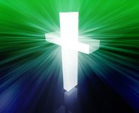 Christian cross. Christian church cross, religious spiritual symbol illustration Stock Image